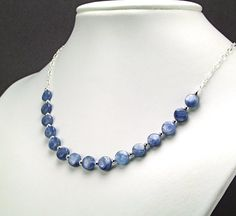 Ice Blue Kyanite & Sterling Silver Necklace  N559 by TheSilverBear, $64.00