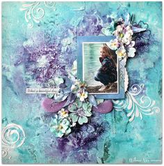 Scraps of Darkness scrapbook kits; Mixed media layout created with our July An…