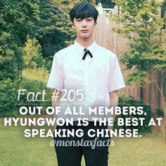 My talented boi   Out of all members, Hyungwon is the best at speaking Chinese.  Photo Credit: Monsta X Fancafe I found this fact in: [Video] Live Idol TV (subs by N.K.PHX)  @official_monsta_x #monstax #monsta_x  #wonho #shinhoseok #hyungwon #chaehyungwon #jooheon #leejooheon #kihyun #yookihyun #changkyun #limchangkyun #shownu #sonhyunwoo #minhyuk #leeminhyuk #monbebe #원호 #형원 #주헌 #민혁 #아이엠 #monstaxfacts #monstaxfacts