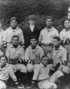 FDR at Groton, 1898.   FDR did not play, but he was the team manager.