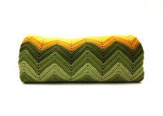 Vintage CHEVRON Stripe Handmade Afghan by aniandrose on Etsy, $32.00