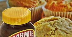 lekker vinnig om te maak, my kinders verslint hulle: 1 koppie koekmeelmeel 2 tl bakpoeier knypie sout mespunt rooipeper driekwart vol koppie volroom melk 1 en koppies gerasperde kaas 4 tl vol m… Savoury Baking, Marmite, Cheddar, Cornbread, Muffins, Appetizers, Treats, Snacks, Om