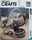 McCall's 6037 Rag Baskets & Rugs Sewing Pattern - http://sewingpins.net/sewing/sewing-baskets/mccalls-6037-rag-baskets-rugs-sewing-pattern/