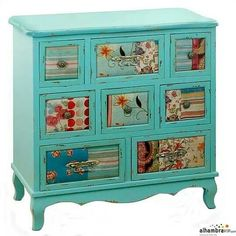 1000 images about decoupage on pinterest mesas de luz - Muebles restaurados baratos ...
