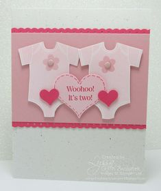 Whoo hoo, it's two! Cards for twins