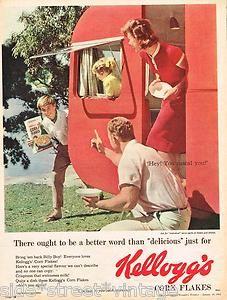 cute caravan, vintage kelloggs ad