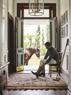 Steve Cordony in the recently renovated hallway at Rosedale Farm. House On A Hill, Farm House, Image Pinterest, Farm Lifestyle, Homestead House, Equestrian Decor, Orange House, English House, Interior Decorating