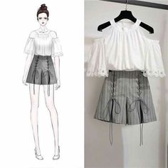 Clothes Design Anime Ideas For 2019 Set Fashion, Look Fashion, Trendy Fashion, Fashion Models, Girl Fashion, Fashion Design Drawings, Fashion Sketches, Korean Fashion Trends, Asian Fashion