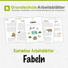 Kostenlose Arbeitsblätter und Unterrichtsmaterial für den Deutschunterricht zum Thema Fabeln in der Grundschule.