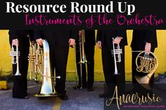 Resource Roundup - My favorite resources for teaching Instruments of the Orchestra in the elementary music classroom. YouTube videos, books, stations, and freebies :)