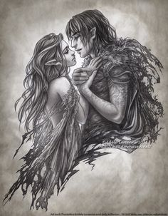 Incredible drawing by `Saimain on deviantart. Her artwork is worth following!