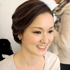 Sophie Lau Make-up and Hair: Front view of bridal hair