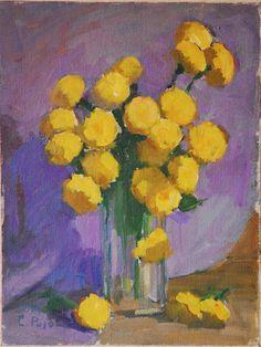 Flores amarelas, s.d. Colette Pujol (Brasil, 1913-1999) óleo sobre tela colado em eucatex, 40 x 30 cm
