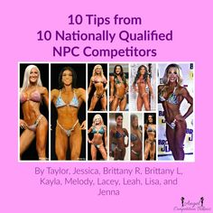 10 tips from 10 Nationally Qualified NPC competitors – Angel Competition Bikinis Bikini Competition Training, Fitness Competition, Figure Competition, Competition Bikinis, Physique Competition, Bodybuilding Competition, Bodybuilding Workouts, Female Bodybuilding, Fitness Models