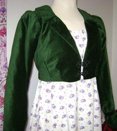 Green Velvet Regency Spencer