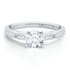 The Artiste Blissful Engagement Ring by Scott Kay in 14K Gold available at #HelzbergDiamonds