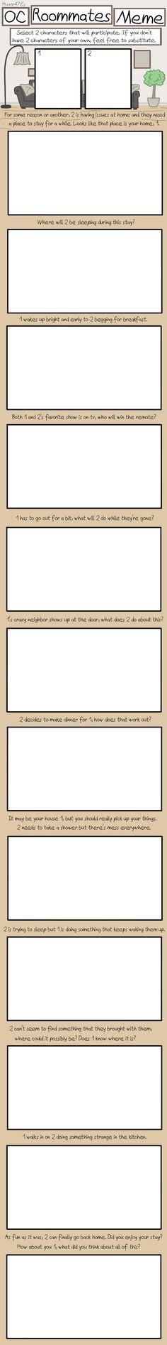 OC Roommates: Blank Meme by haxor478