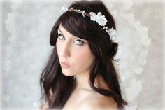 Romantic Flower Bridal Crown Woodland Wedding Hair by deLoop, $50.00