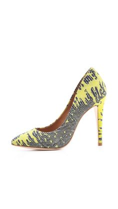 Madison Harding Pickford Lizard Embossed Pumps