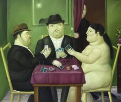 Fernando Botero - Card Players, PaintingMore Pins Like This One At FOSTERGINGER @ PINTEREST No Pin Limitsでこのようなピンがいっぱいになるピンの限界