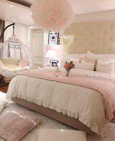 Furniture & Home #Cheapbedroommakeover Girl Bedroom Designs, Room Ideas Bedroom, Home Decor Bedroom, Bedroom Furniture, Bed Room, Budget Bedroom, Bedroom Images, Furniture Design, Cozy Bedroom