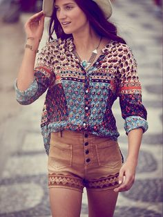 Free People Sienna Embroidered High Rise at Free People Clothing Boutique