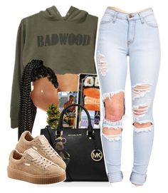 """But you don't know my name."" by trapanese-kids ❤ liked on Polyvore featuring MICHAEL Michael Kors, Burberry and Puma"