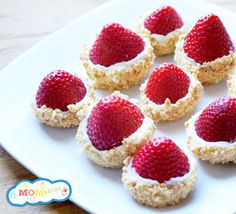 Strawberry Cheesecake Bites - a great treat for kid's lunch boxes.