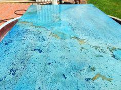 Brilliant Blue Countertop Perfection! More from Jody Gott in New Iberia, LA and Direct Colors Premium Blue Concrete Colors!