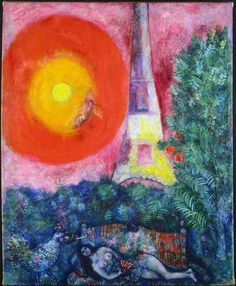 "THE SUN-MARC CHAGALL - PARIS ""When Matisse dies, Chagall will be the only painter left who understands what color really is."" ~Pablo Picasso"