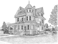 House Drawing Pencil Modern Stone Houses Pencil Drawing Pencil Drawings Of Old Houses - Drawing Sketch Gallery Section Drawing Architecture, Architecture Sketchbook, Landscape Architecture Design, Draw House, House Drawing, Building Drawing, Building Sketch, House Colouring Pages, Coloring Pages