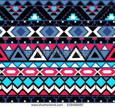 retro multicolor tribal vector seamless pattern. Aztec abstract geometric art print. ethnic hipster backdrop. Wallpaper, cloth design, fabric, paper, wrapping, textile.