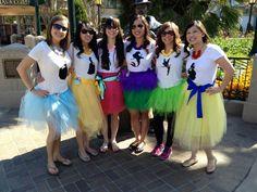 Disney Princess Bachelorette Party!  Rosette necklaces by LittlePixieCrafts!