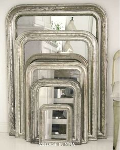 silver  French mirrors    greige: interior design ideas and inspiration for the transitional home by christina fluegge