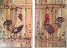 Roosters On A Fence...