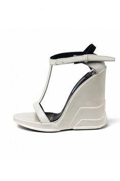 Prada Scarpe  sandali bianchi con zeppa autunno inverno 2014 2015