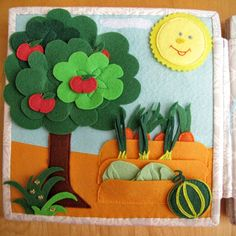 Fruit and veggies are growing in the garden page