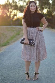 Long Skirt in Floral Print- Amydus.com | Plus Size Long Skirts ...