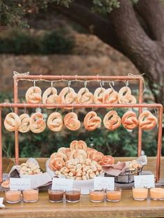 Wedding Food Pretzel bar idea for wedding reception food station - Treat guests to one of these awesome DIY food stations. Unique Wedding Food, Wedding Food Bars, Wedding Snacks, Wedding Food Stations, Wedding Catering, Unique Weddings, Romantic Weddings, Outdoor Weddings, Food For Weddings