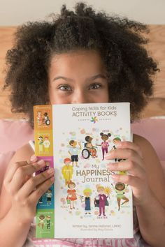Coping Skills for Kids Activity Books: My Happiness Journal Elementary School Counselor, School Counseling, Elementary Schools, Group Counseling, Kids Activity Books, Activities For Kids, What Makes You Happy, Are You Happy, Kids Coping Skills