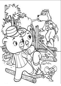 Dibujos para Colorear Tres Cerditos 11