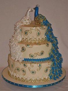 peacock cake...wow!