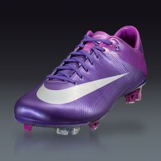 They finally decided purple was cool to put on cleats!