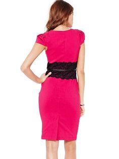 Blue/Purple/White/Fuchsia Pencil Lace Fashion Dress