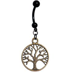 Antiqued Tree of Life Belly Ring | Body Candy Body Jewelry
