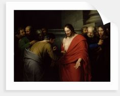 'The Incredulity of St. Thomas' Painting Astoria Grand Format: Wrapped Canvas, Size: cm H x 80 cm W x cm D Leeds Art Gallery, Personalised Prints, Canvas Prints, Art Prints, Bible Stories, Nature Scenes, World Cultures, Paper Design, Fine Art Paper