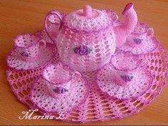CROCHET How To #Crochet Decorative TeaCup and Saucer #TUTORIAL #331 - YouTube
