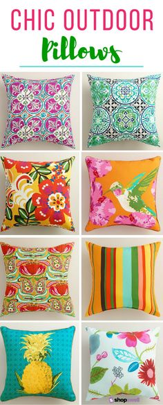 Glam up your patio living space with these chic, fabulous (and cheap!) outdoor throw pillows. The best part? They're super affordable!