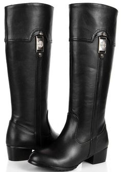 Ladies Leather Zipper Riding Boots Knee High Knight Stiletto Heels Plus Sz Shoes
