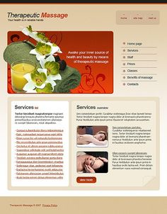 Therapeutic Massage Website Templates by Di